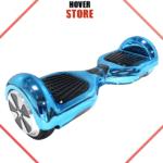 Hoverboard bleu chromé