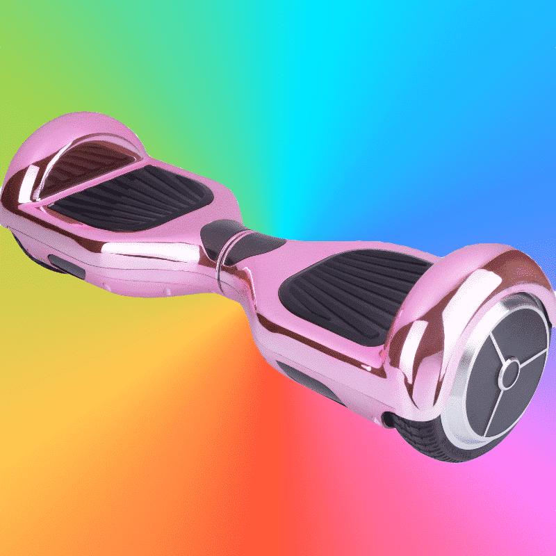 hoverboard rose chrom hoverboard skate lectrique de france. Black Bedroom Furniture Sets. Home Design Ideas