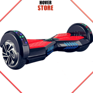 Hoverboard noir et rouge 8 pouces