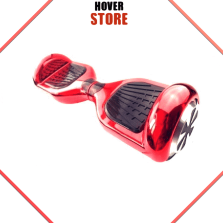 Hoverboard rouge chromé