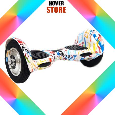 hoverboard grafiti 10 pouces hoverboard skate lectrique. Black Bedroom Furniture Sets. Home Design Ideas