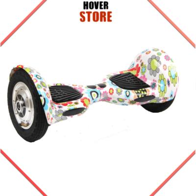 Hoverboard 10 Pouces Blanc Fleuri