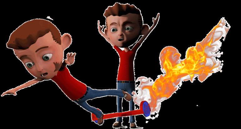 Hoverboard incendie