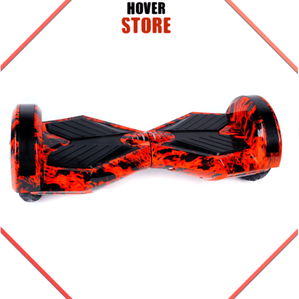 Hoverboard 8 pouces rouge flamme