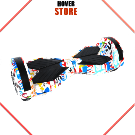 Hoverboard 8 pouces Blanc Cartoon