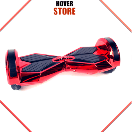Hoverboard 8 pouces rouge chrome