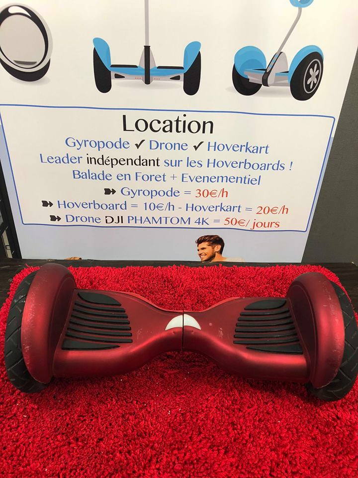 Hoverboard 10 pouces rouge