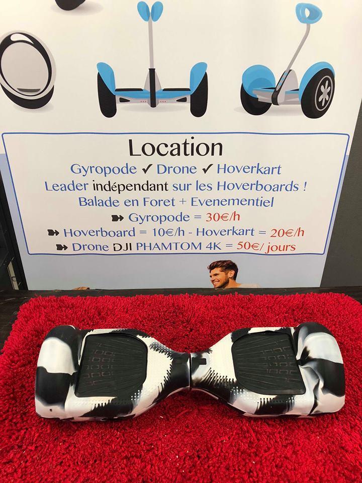 Hoverboard 6.5 pouces avec protection noir et blanc