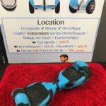 Hoverboard 6.5 pouces avec protection silicone noir et bleu