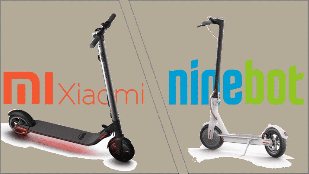 Comparatif Trottinette electrique entre xiaomi et ninebot