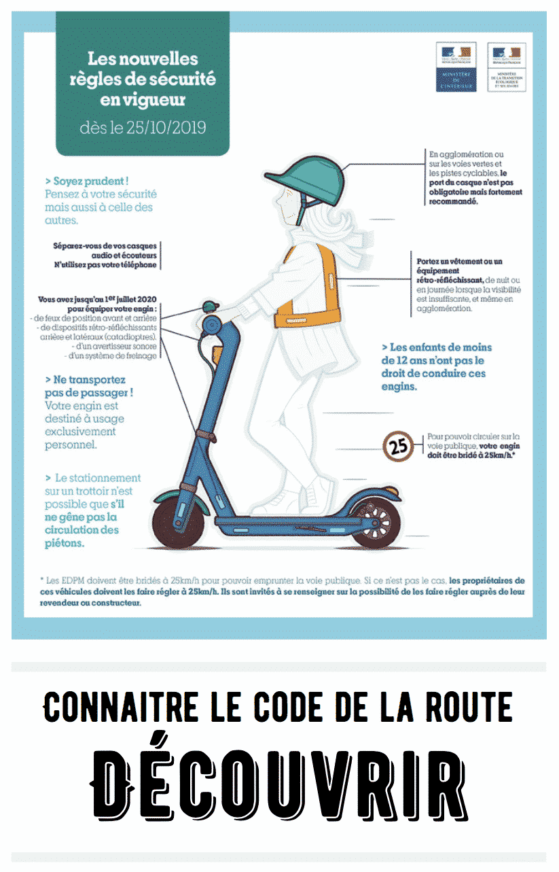 Code de la route NVEI - Trottinette electrique - Skate electrique - Hoverboard - Hoverkart - Gyroroue - Gyropode